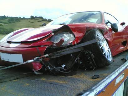 Broken Ferrari