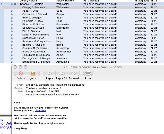 Some Spam e-mails